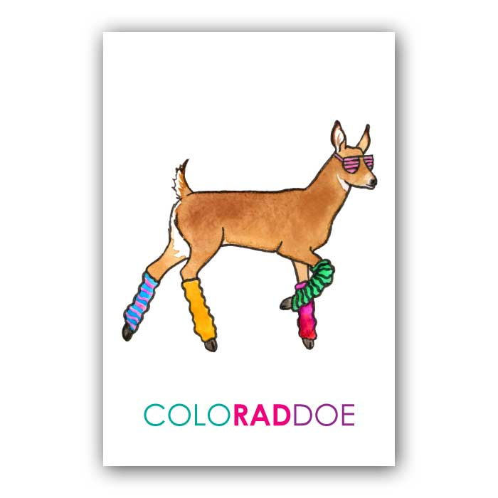 ColoRADdoe Postcard