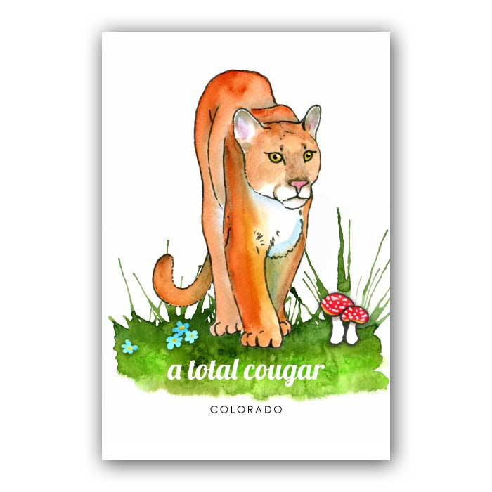 A total cougar - postcard