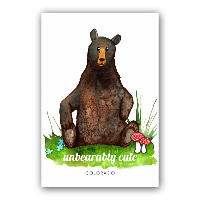 unBEARably cute - postcard