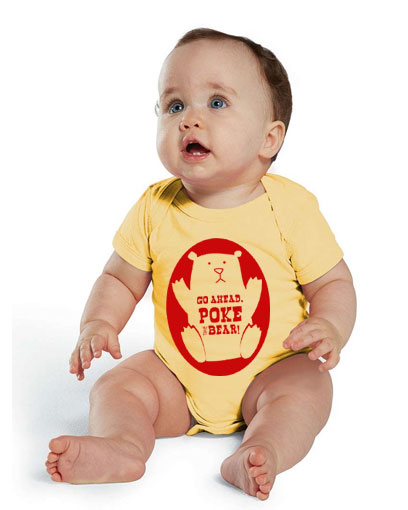 poke the bear baby infant one piece romper onesie