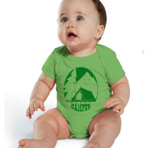 happy camper onesie baby bodysuit