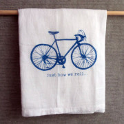 bike flour sack kitchen towel