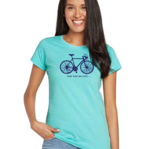just how we roll bike t shirt