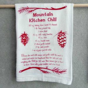 Chili recipe dish towel