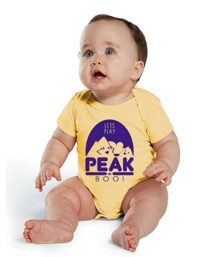 Peak a Boo infant baby bodysuit romper onesie shirt tshirt t-shirt