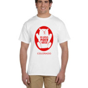 Red ink on white shirt - Poke the Bear