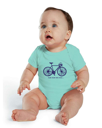 just how we roll bike t shirt